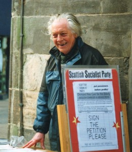 Charlie Rees out campaigning for the SSP