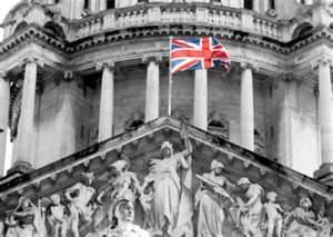Happier days for Loyalists - Union Jack flies over Belfast City Chambers