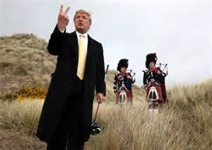 Trump shows his affection for the people of Scotland