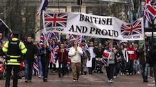 Loyalist protest in Belfast