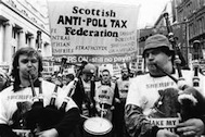 Tories used Westminster and UK state to test out poll tax in Scotland