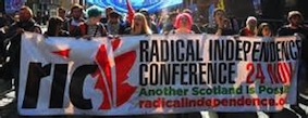 Radical Independence Campaign on the streets