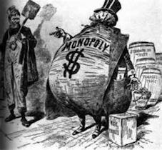 Nineteenth century US anti-trust cartoon