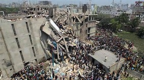 Consequences of capitalist globalisation - over 600 die as Bangla Desh garment factory collapses