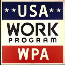 Work Program - a key element of the New Deal in the USA