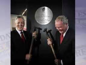 Peter Robinson and Martin McGuinness at the centenary of the launch of the Titanic