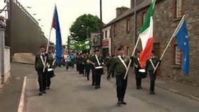 Republican march in Castlederg, County Tyrone