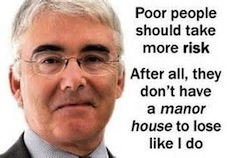 Lord Freud - appointed by New Labour and the Tories to attack the welfare system