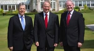 US envoy, Richard Haass,with Peter Robinson (DUP) and Martin McGuiness (Sinn Fein)