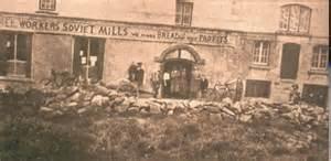 Bruree Workers Soviet, County Limerick after British troops burn it