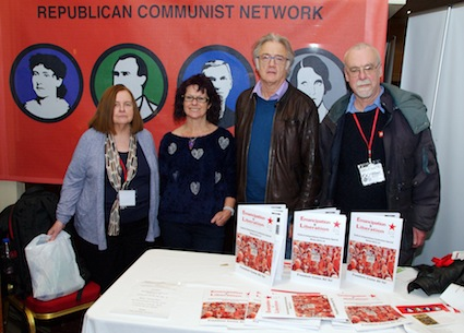 Bernadette McAliskey, Mary McGregor, Steve Freeman and Allan Armstrong at the RIC conference