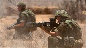 The Yorkshire Regiment on exercise in Kenya
