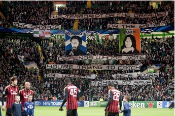 Green Brigade celebrate William Wallace and Bobby Sands as freedom fighters