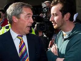 Nigel in altercation with RIC in Edinburgh