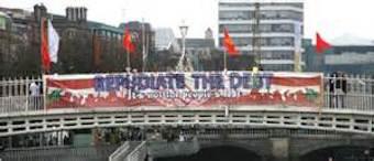 Protest against the Troika on Dublin's Halfpenny Bridge