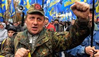 Svoboda - Ukrainian ultra-nationalists in Kiev