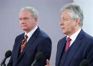 Martin McGuinness and Peter Robinson sign up to the new Stormont House Deal
