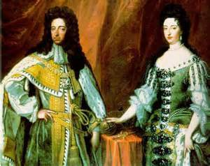 William and Mary - victors in 'The Glorious Revolution'