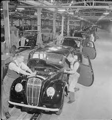 The post-war British car industry