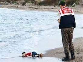 The drowning of 3 year old Kurdish Syrian refugee, Aylan Kurdi found on a Turkish beach