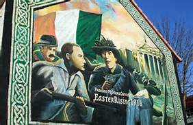 Republican mural in Belfast celebrating the 1916 Irish Rising