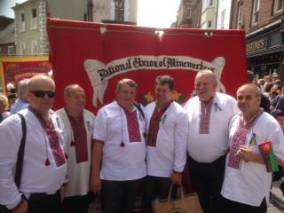 Ukraine miners at the 2014 Durham Miners' Gala