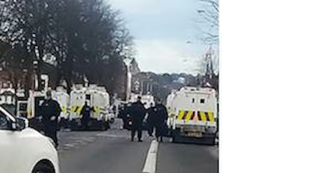 PSNI oversee Orange Order march on Ormeau Road
