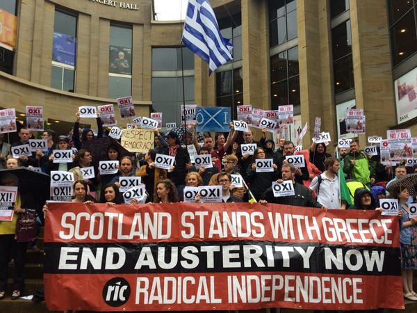 Joint RIC and STUC demo in support of Greek people in 2015