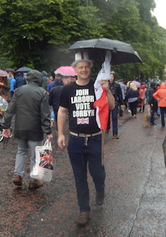 A very British Corbyn supporter!