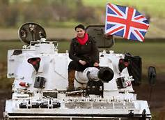 Ruth Davison the Tory 'Tank Commander' leads her offensive against Scottish Labour